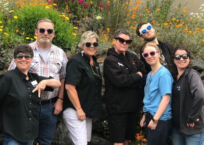 Orcas Island Market Employees striking a pose and wearing sunglasses