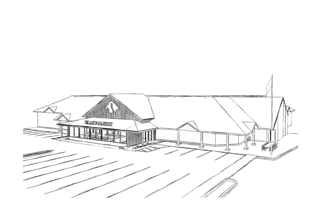 Rendering of Orcas Island Market renovation project