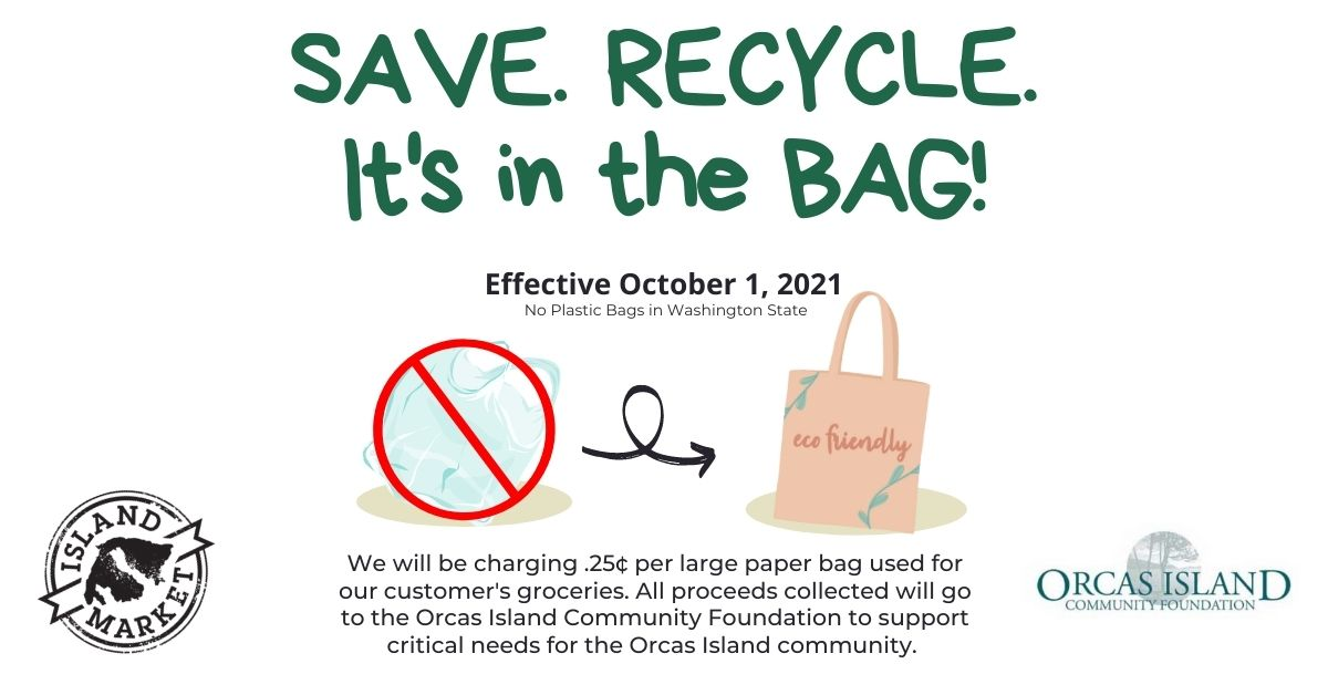 Save. Recycle. It's in the Bag.